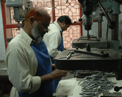 Workers in Sialkot. Photo: Minke Vorstenbosch