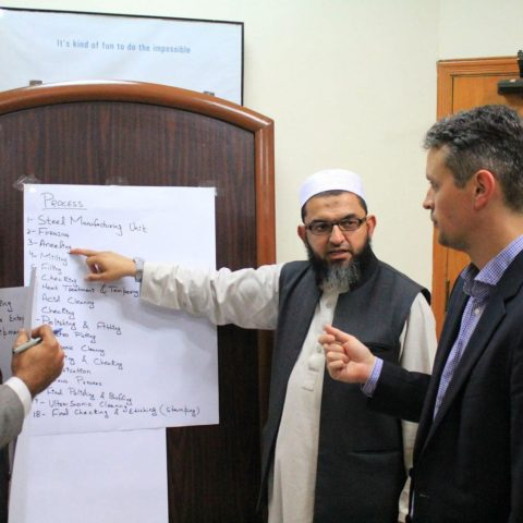 Workshop in Sialkot. Photo: Don van Luijn